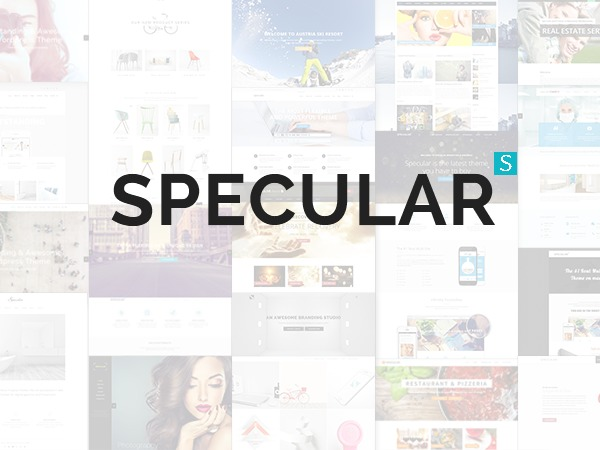 Specular personal blog WordPress theme