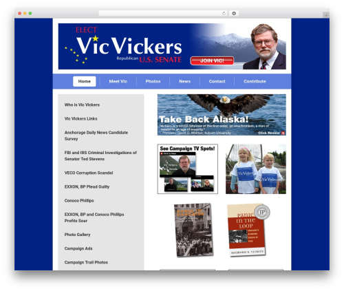 The7 theme WordPress - vicvickers.com