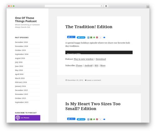 Twenty Fifteen free website theme - oottpod.com