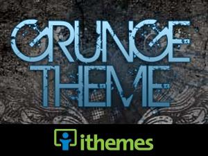 Grunge Blue WordPress template