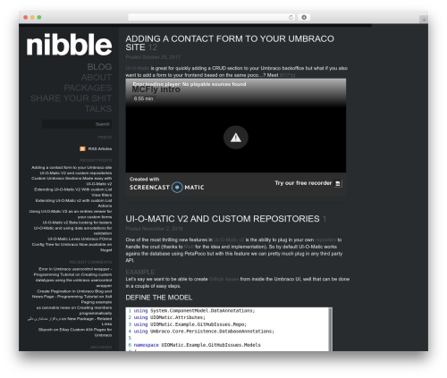 Theme WordPress Elite - nibble.be
