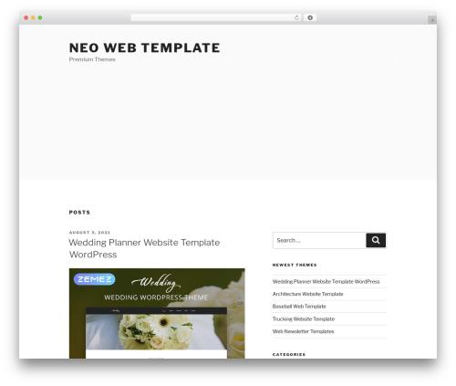Twenty Seventeen template WordPress free - neowebtemplate.com