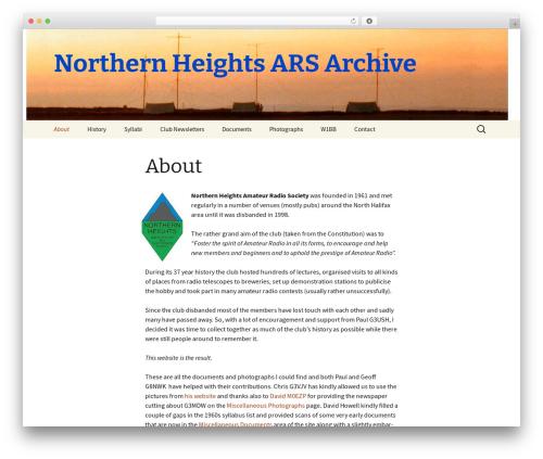 Twenty Thirteen WordPress theme - nhars.org
