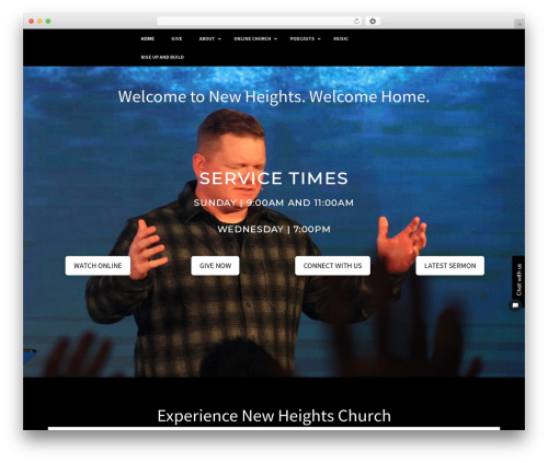 WordPress theme X - newheightschurch.info
