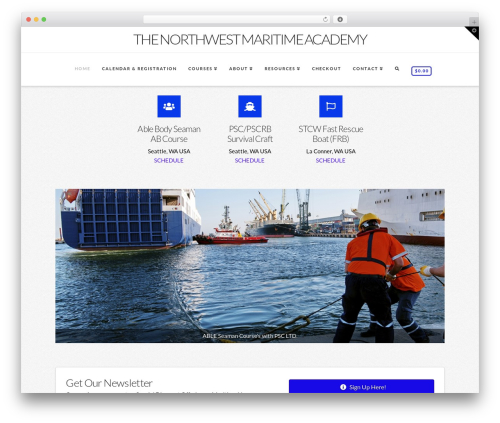X template WordPress - northwestmaritimeacademy.com
