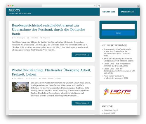 Allgemein Theme - Schema Lite Child WordPress page template - nedos.de