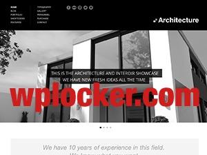 Architecture (shared on wplocker.com) WordPress theme