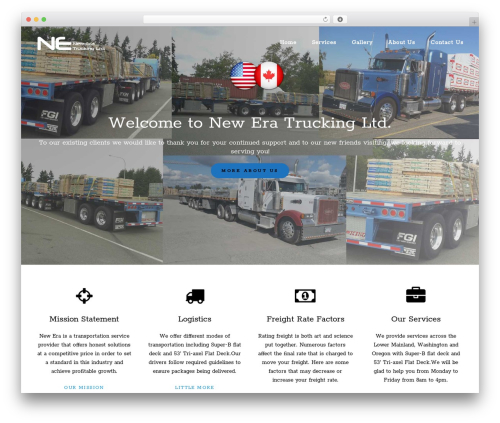 BLDR WordPress theme - neweratrucking.com