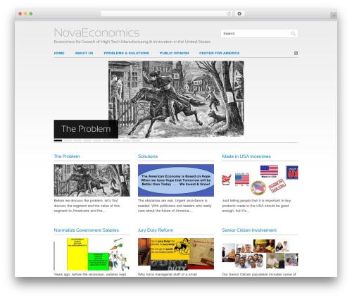 Clean Slate template WordPress - novaeconomics.com