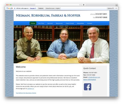 Customized business WordPress theme - nkfhcpa.com