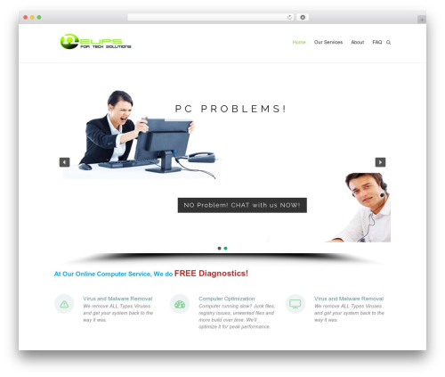 Esteem WordPress theme - neups.com