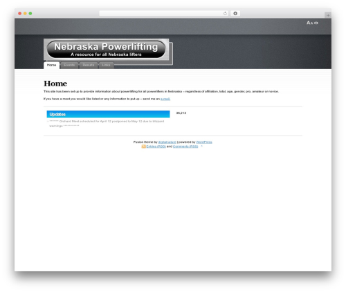 Fusion theme WordPress - nebraskapowerlifting.com