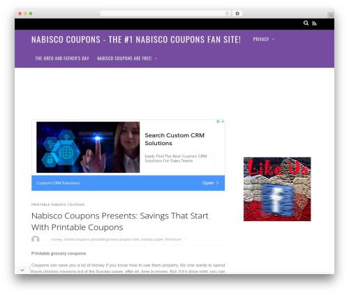 Magazine best WordPress magazine theme - nabiscocoupons.com