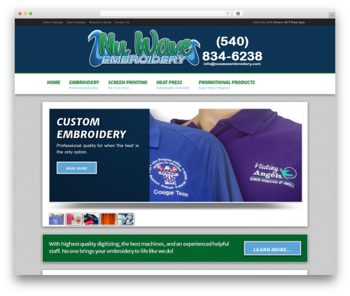 Modular WordPress theme - nuwaveembroidery.com