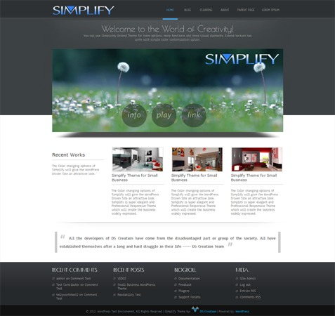 Old Simplify WordPress template for business