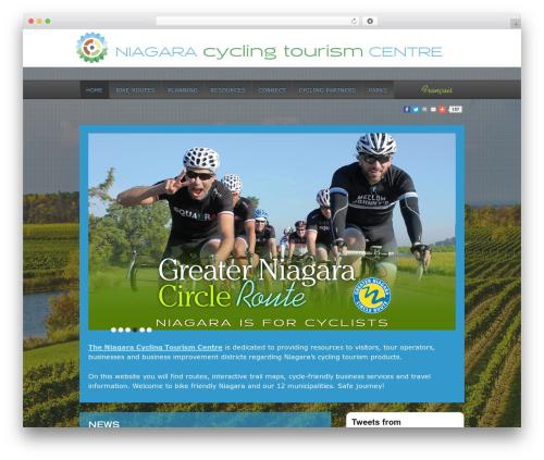Responsive free WP theme - niagaracyclingtourism.com