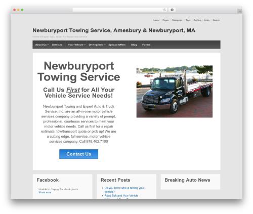 Responsive free WP theme - newburyporttowingservice.com