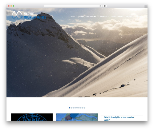 Versatile template WordPress - narvikguides.no