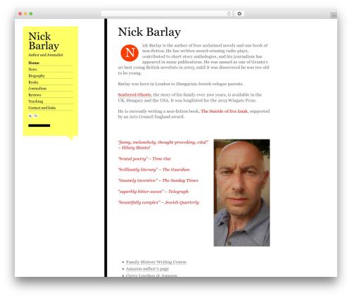 Best WordPress template Esquire - nickbarlay.com