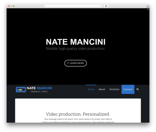 Best WordPress template X - natemancini.com