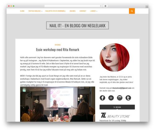 Bulan WordPress blog theme - neglelakk.net