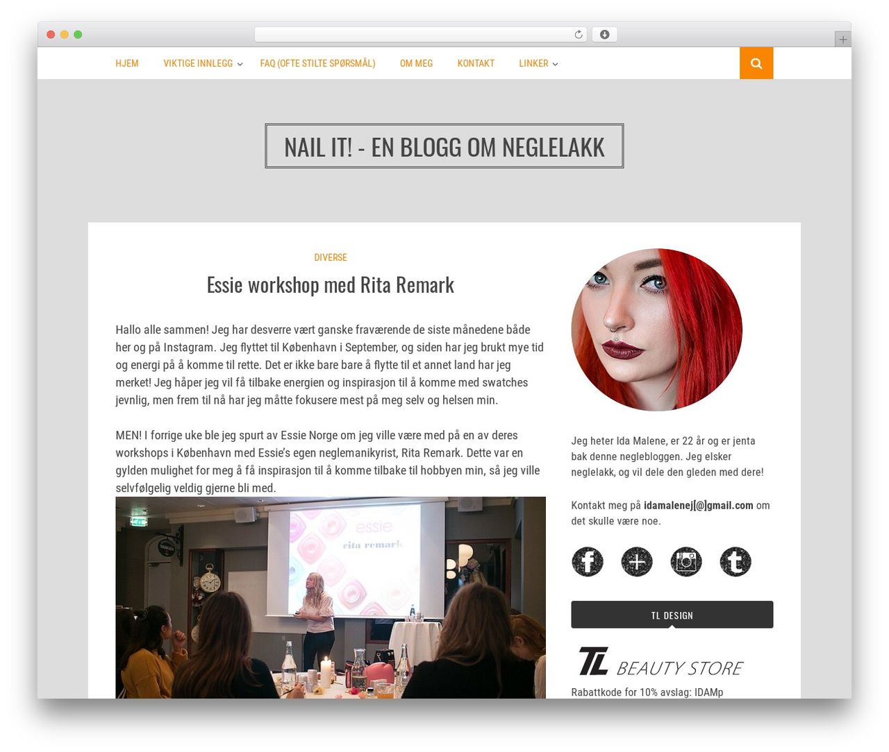 Bulan WordPress blog theme - neglelakk.net