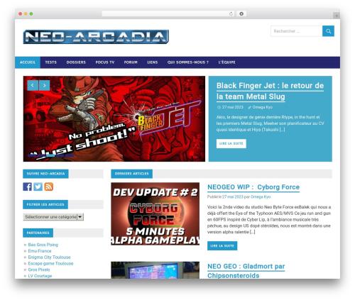 Merlin free WordPress theme - neo-arcadia.com