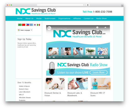 Modular company WordPress theme - ndcsavingsclub.com