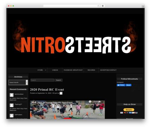 raindrops best free WordPress theme - nitrostreets.com