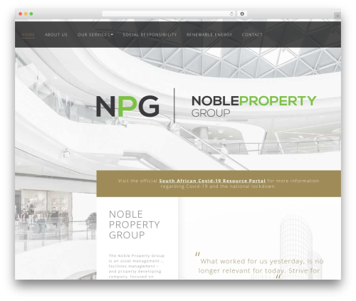 The7 WordPress template for business - nobleprop.co.za