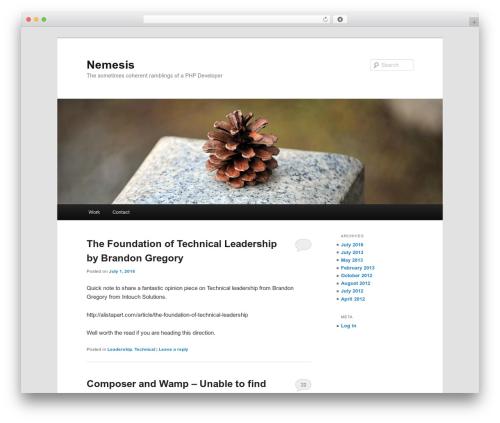 Twenty Eleven theme WordPress free - nemesis.co.nz