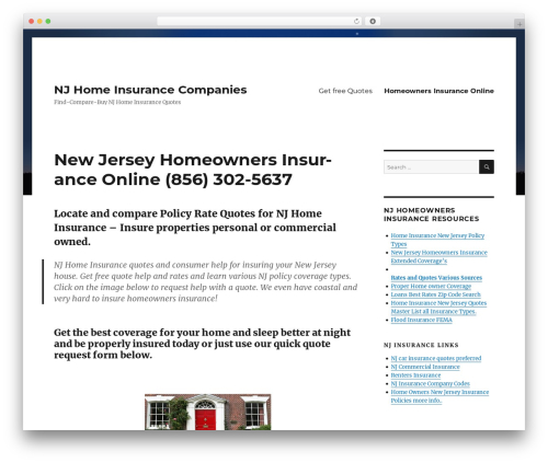 Twenty Sixteen template WordPress - njhomeinsurancequotes.com