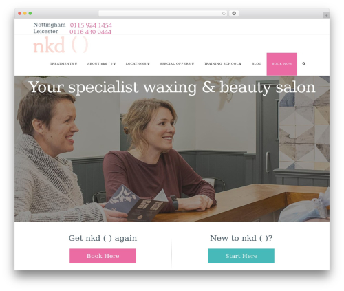 WordPress theme X - nkdwaxing.com