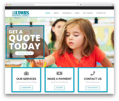 WordPress website template X - liatexas.com