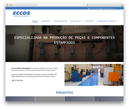 X WordPress website template - eccos.com.br