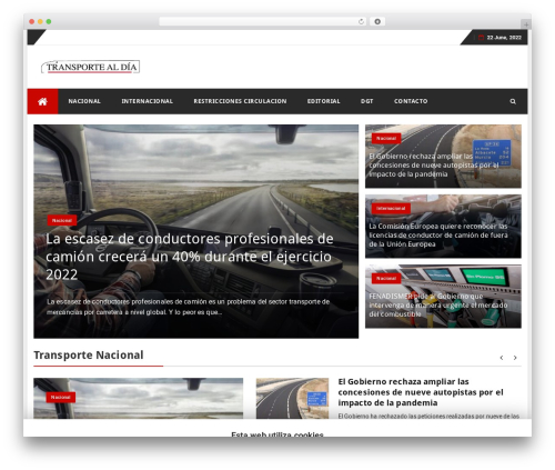 bFastMag Pro template WordPress - transportealdia.es