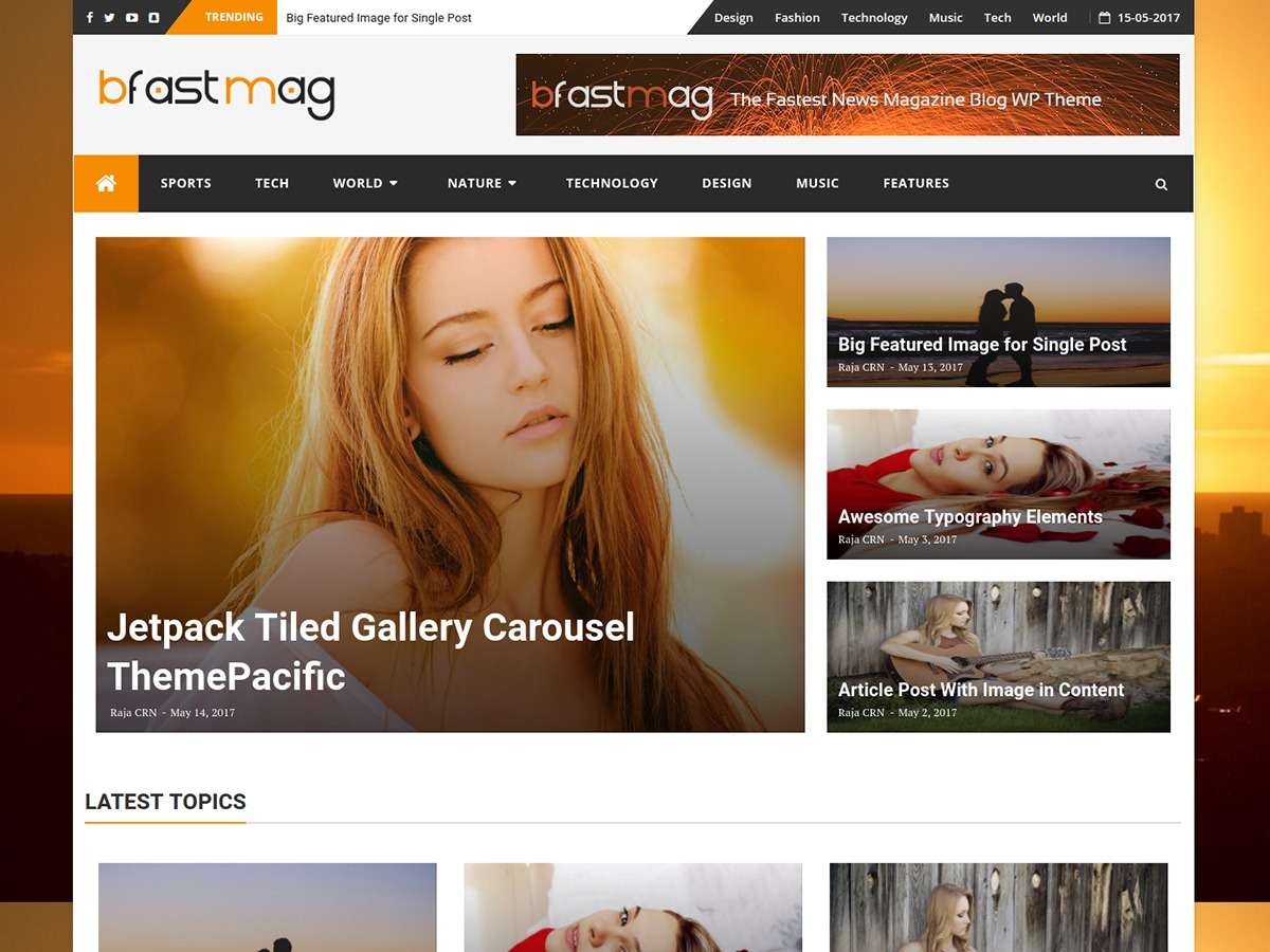 bFastMag Pro WordPress news template