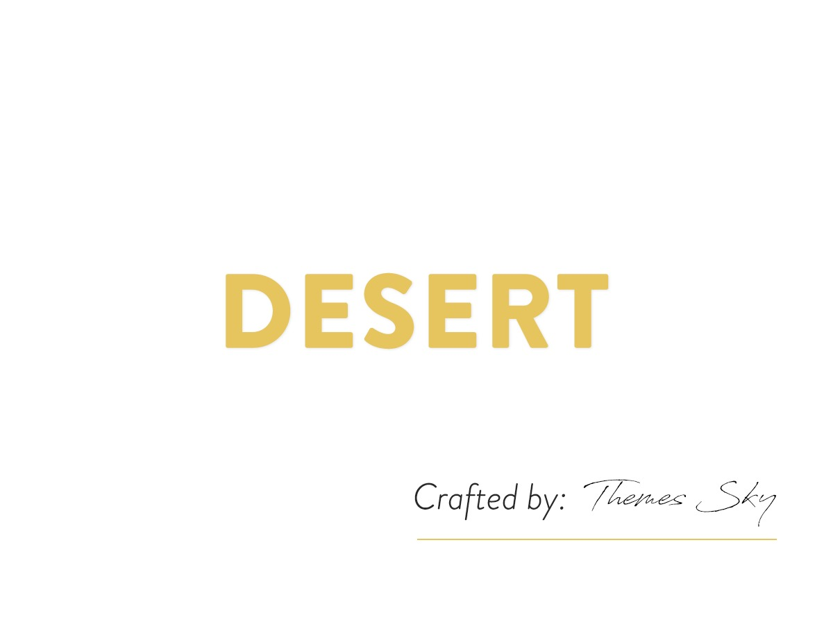 desert WordPress blog template