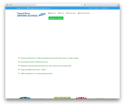 Divi top WordPress theme - tweedriverdrivingschool.com.au