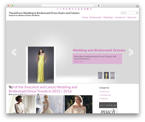 fFashion free WordPress theme - thesedress.com
