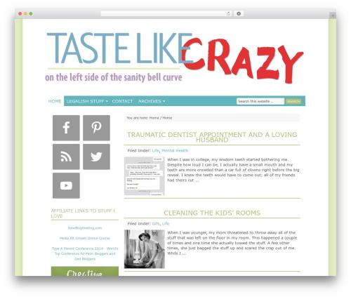 Genesis premium WordPress theme - tastelikecrazy.com
