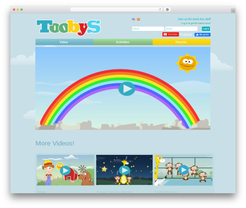 Gridiculous theme WordPress - toobys.tv