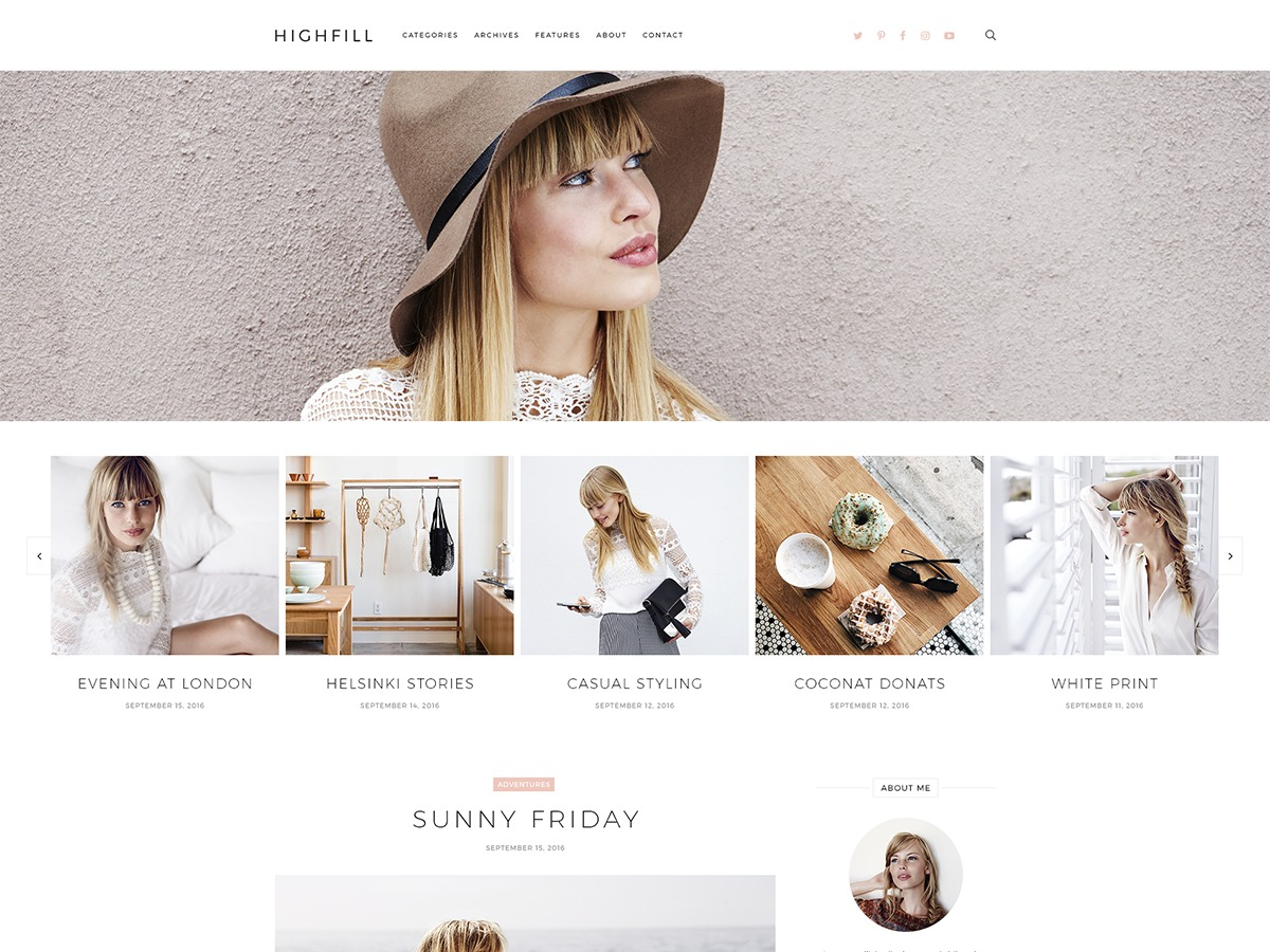 Highfill WordPress blog theme