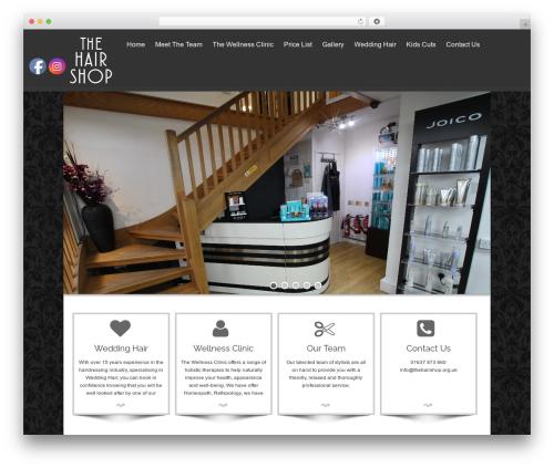 isis WordPress wedding theme - thehairshop.org.uk