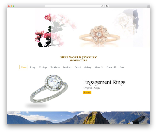 Jewellery best WordPress template - freeworldjewelry.com