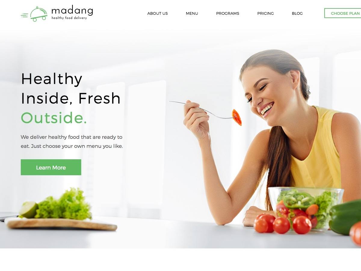 Madang food WordPress theme