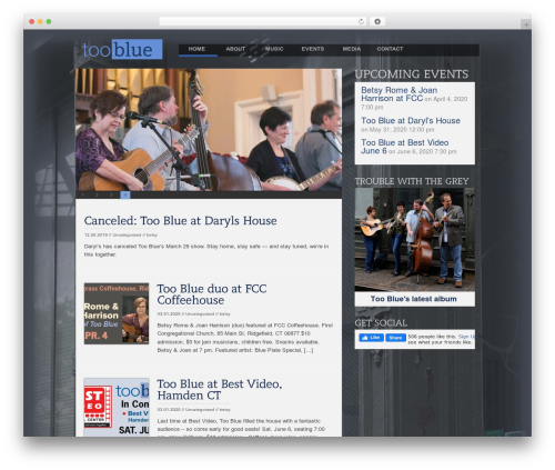Open WordPress page template - toobluemusic.com