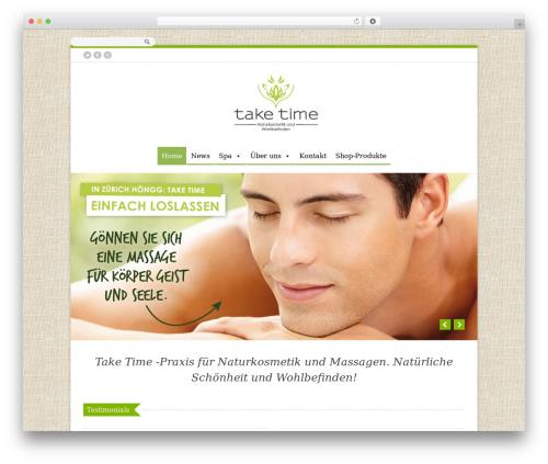 Organic Shop WordPress ecommerce template - taketime.ch