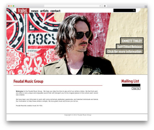 Ping theme WordPress - feudalrecords.com