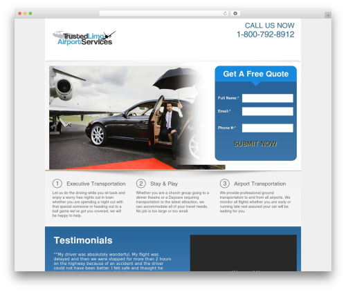 Rent-A-Serp Theme WordPress page template - trustedlimoairportservices.com